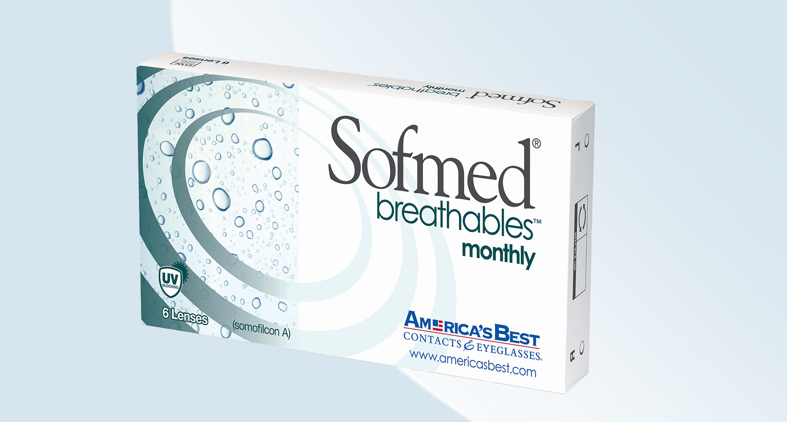 Box of Sofmed Breathables Monthly contact lenses