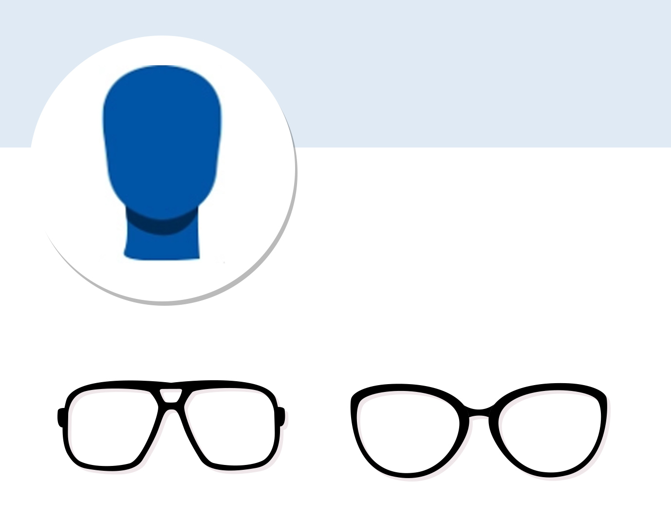 Square face icon with glasses