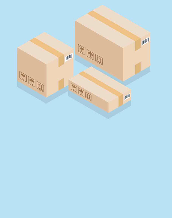 Shipping box illustration