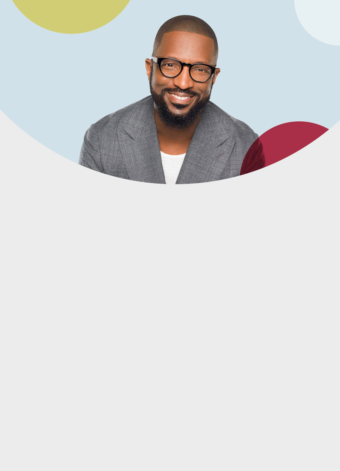 Rickey Smiley wearing eyeglasses